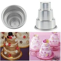 Mini 3-Tier Cupcake Pudding Chocolate Cake Mold Baking Pan Mould Party [7981852231]