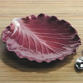 Red Cabbage Ceramic Plate - 8600