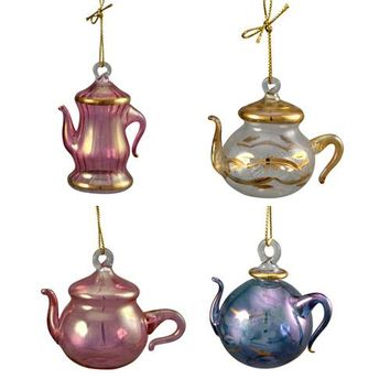 Pyrex Glass Teapot Ornaments from Egypt Various Colors