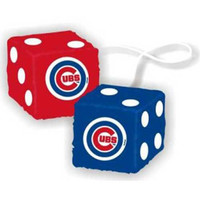 Chicago Cubs MLB 3 Car Fuzzy Dice