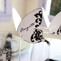 Printable Damask Butterfly Place cards Print As by ThePoshEvent