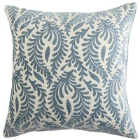 Flourish Leaflet Pillow - Blue