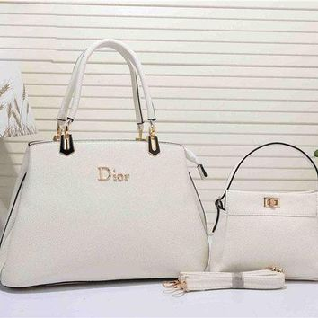 DCCKHI2 Dior Fashion Women's Leather Handbag Tote Satchel Shoulder Bag Two piece Set H-YJBD-2H Tagre-