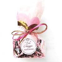 Pink Champagne Bath Bomb With Organic Coconut Oil