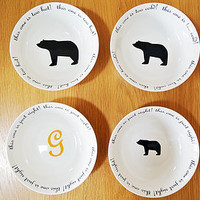 Goldilocks And The Three Bears Porridge Bowls