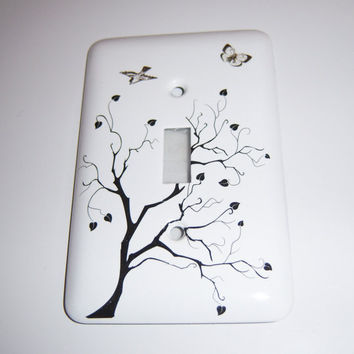 Tree of Hearts single light switch cover