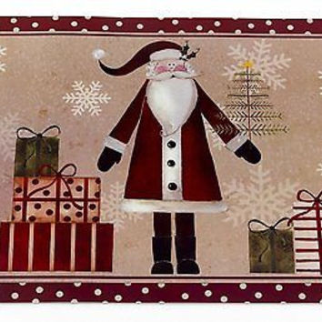 Santa's Milk 'N Cookies Set of 6 Expanded Foam Vinyl Placemat - Saint Nick