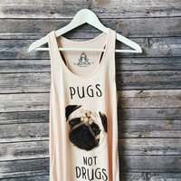 Pugs Not Drugs Tank