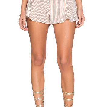 Lisakai Maui Short in Brown & Ivory Stripe