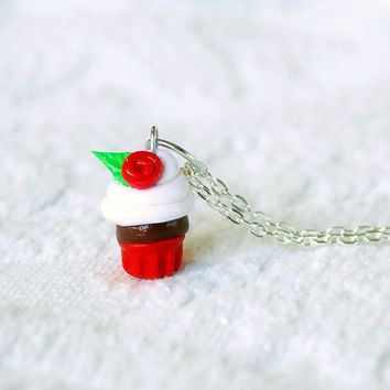 Red Velvet Cupcake Charm Necklace by BoutiqueVintage72 on Etsy