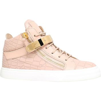 GIUSEPPE ZANOTTI - Crocodile-embossed leather trainers | Selfridges.com