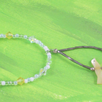 Yellow and Grey Swarovski Crystal Yellow Bird Necklace