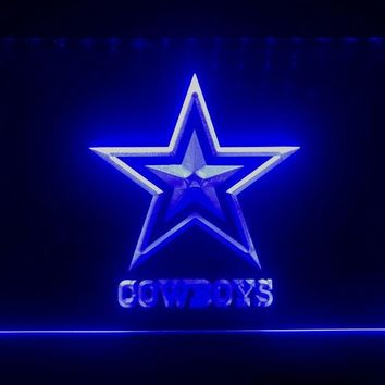 B039b- Dallas Cowboys NR Super Bowl LED Neon Light Sign