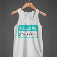 HELLO I'M DIVERGENT TANK TOP CYAN (IDE131651)