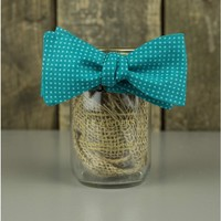 The Dark Turquoise Spotted Bow Tie
