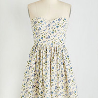 ModCloth Short Length Sleeveless A-line Frappe Attention to the Details Dress