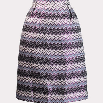 Metallic Chevron Skirt