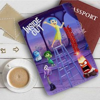 Disney Pixar inside Out Characters Leather Passport Wallet Case Cover