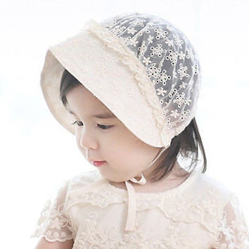 Newborn Baby Girl Toddler Sun Cap Summer Bucket Hat Cotton Infant Bonnet Cap Hot