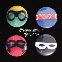 5 Seconds of Summer Don't Stop Superhero Buttons or Magnets (Set of 4 Buttons/Magnets)