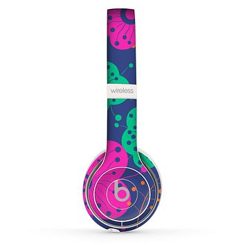 The Bright Colored Cartoon Flowers Skin Set for the Beats by Dre Solo 2 Wireless Headphones