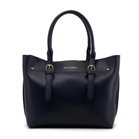 Blu Byblos Navy Leather Handbag
