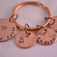 Copper and Penny Personalized Anniversary Key Chain - Love Never Fails