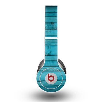 The Signature Blue Wood Planks Skin for the Beats by Dre Original Solo-Solo HD Headphones