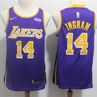 Men's Los Angeles Lakers Brandon Ingram Nike Purple Swingman Jersey – City Edition - Best Deal Online