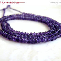 51% OFF Amethyst Rondelle Gemstone Purple Amethyst Faceted 3mm 75 beads 1/2 strand