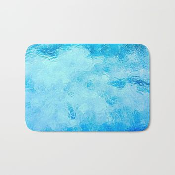 Caribbean Turquoise Sea Bath Mat by ARTPICS
