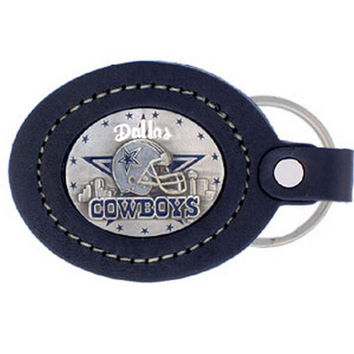 Leather Keychain - Dallas Cowboys FLK055