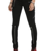 Tripp Black Zipper Pants
