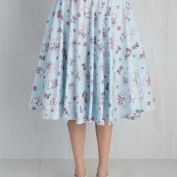 Crush on Kawaii Skirt in Sky Blue | Mod Retro Vintage Skirts | ModCloth.com