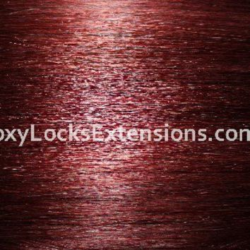 Foxy Locks Deluxe 20 inch Clip In Remy Human Hair Extensions Mahogany Red 33