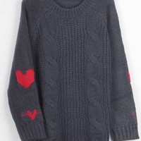 Cupshe Calling All Hearts Twist Sweater