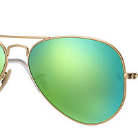 Ray-Ban RB3025 112/P9 58-14 AVIATOR FLASH LENSES Gold sunglasses | Official Online Store US