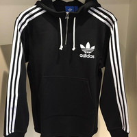 Adidas Originals Hooded Half Zipper Pullover Tops Sweater Sweatshirts (High Quality)