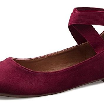ShoBeautiful Women's Classic Ballerina Flats With Elastic Crossing Ankle Straps Ballet Flat Yoga Flat Shoes Slip On Loafers