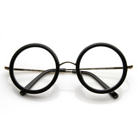Womens Designer Fashion Round Circle Clear Lens Glasses 8792