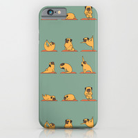 Pug Yoga iPhone & iPod Case by Huebucket