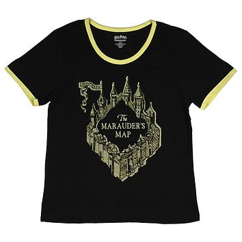 Harry Potter Juniors The Marauders Map Embroidered T-Shirt