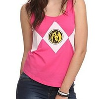 Mighty Morphin Power Rangers Pink Ranger Girls Tank Top - 441839