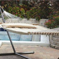 Quilted Hammock Waterproof Cushion Fabric With Plush Outdoor Decor Taupe Finish