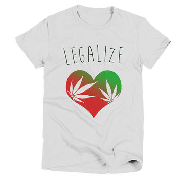 Legalize Womens White T Shirt - Graphic Tee - Clothing - Gift