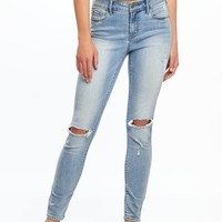 Mid-Rise Rockstar Distressed Jeans for Women |old-navy