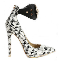 QUEEN OF THE DAMNED SNAKE PUMP - BLACK WHITE
