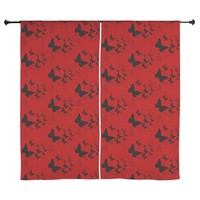 red butterfly Curtains