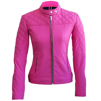 Women Pink SoftShell Jacket