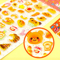Buy Kawaii Animal Bakery Bread Sponge Stickers at Tofu Cute